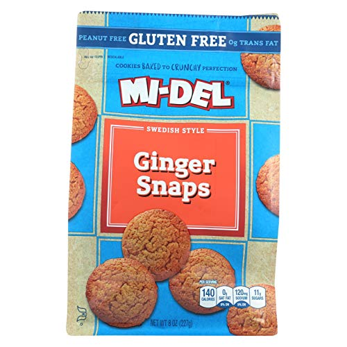 Midel Ginger Snaps, Gluten Free - (Case of 8 - 8 oz)