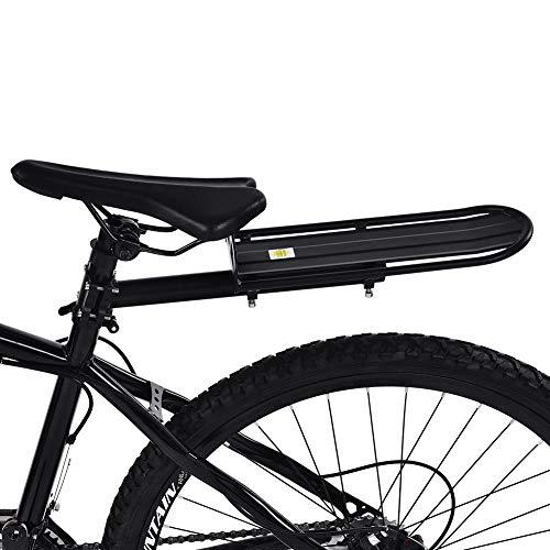 GOTOTOP schwarz Fahrrad-Gepäckträger Alu-Gepäckträger Mountainbike Gepäckträger Hinten Regal, Max Belastung 10 KG, 33,3 * 11,7 cm
