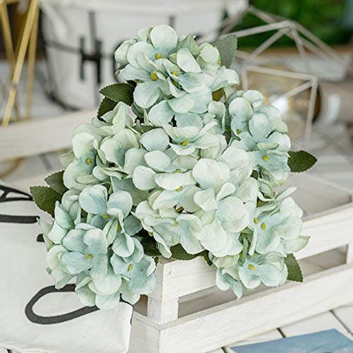 LYWL Artificial Flowers, Retro Hydrangea Simulation Flower, Silk Cloth Fake Bouquets Flowers, Big Bouquet, for Home Party Garden Fence Balcony Christmas Wedding Decoration Floral Arrangement,B