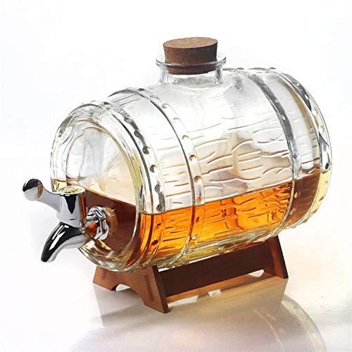YYOBK 1500ml Vinificazione Botti, Casa Brewing & Wine Rendendo Lo Storage, Vino Rack, Whisky, Vino, Tequila Barrel, Birra alla Spina, Birra Dispenser, Mini Barilotto di Birra Dispenser, Vetro