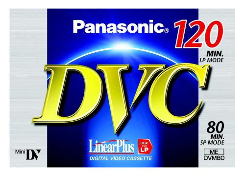 Panasonic AY-DVM80FE Mini-DV Digitale Videokassette (80min, Linear Plus)