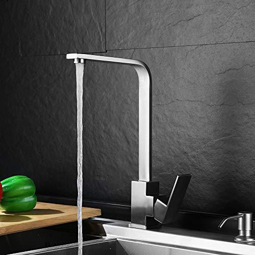 Bad Einhand zweifarbige Farbe 1060H (schwarz + gold),Bad Armatur Wasserhahn Waschtischarmatur aus, Waschbecken Armatur mit Wasserfall Waschtisch Waschbecken, Einhebelmischer fürs Bad