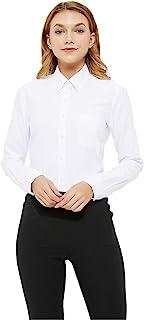 Button Down Shirt Women Long Sleeve Blouse Oxford Shirt...