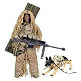 YEIBOBO ! Highly Detail Special Forces 12inch Action Figure SWAT Team - Desert Sniper and Police Dog