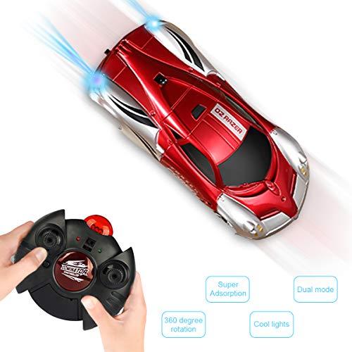 CestMall Ferngesteuertes Auto Kinderspielzeug Wandklettern RC Auto 360 ° Drehbare Stunt Cars, Kinder Auto Spielzeug mit LED-Lichter, Intelligentes Glühendes Kabel USB Jungen Mädchen