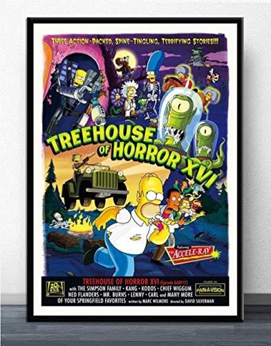 WOMGD® Simpsons Puzzles 1000 Teile Puzzle, Puzzles Puzzle Intellektuelles Spielzeug Holzpuzzle - Anime Cartoon Comics