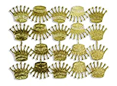 """Sheet of 20 Dresden crowns, each measuring 1 1/4"""" x 1"""" Gold foil on both sides Made in Germany Model Number: A067214201"""