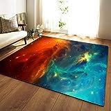 LGXINGLIyidian Alfombra Hermoso Cielo Estrellado del Universo Nebulosa Alfombra Suave Antideslizante De Decoración del Hogar De Impresión 3D T-3092E 120X180Cm