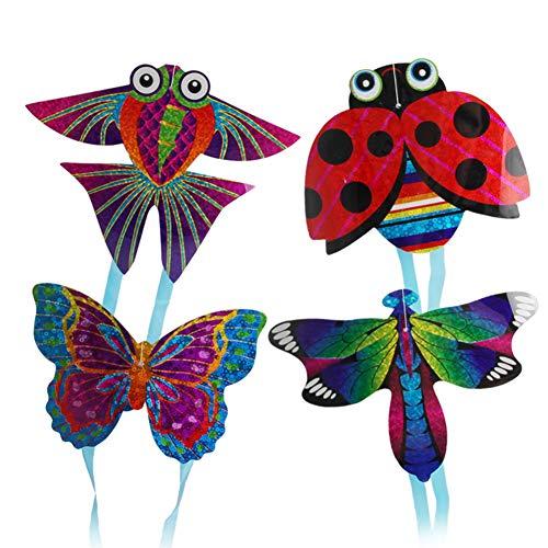 Kalaokei Mariposa Insecto Mini Cometa Insecto Mariposa Avión Deportes al aire libre Mini Cometa Niños Interactivo Volador Juguete Al Azar Estilo Y Color Insecto*