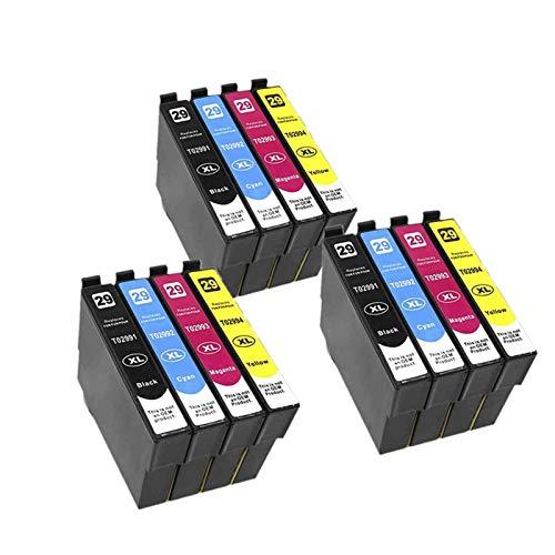 WTBH Cartucho de Tinta Cartucho Compatible con T2991 29XL para XP255 xp257 xp257 xp257 xp332 xp335 xp342 XP 2352572572472552572573323335342 Reemplace el Cartucho de Tinta (Color : 3set 12PK)