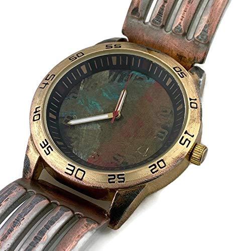 Men's Watch with Multi Color Dial, Wrist Watch, Handmade Watch, Date Watch, Metal Bracelet Watch, For Him, Vintage Watch,Copper Watch