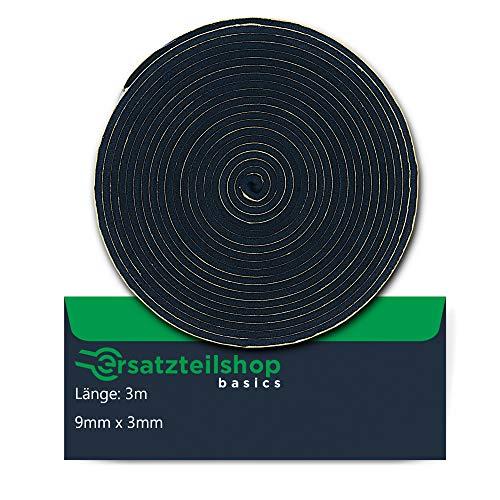 ersatzteilshop basics Dichtband Dichtung 9mm(B) x 3mm(D) zur Montage von Spülbecken Einbauspülen - 3m Montageband