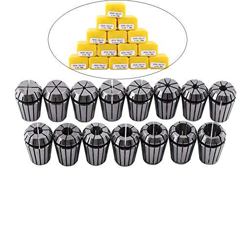 Spannzange Set, 15 stücke ER20 Präzision 65 Mn Spannzangenfutter aus Federstahl für CNC Graviermaschine und Fräsen Drehwerkzeug 1-13mm