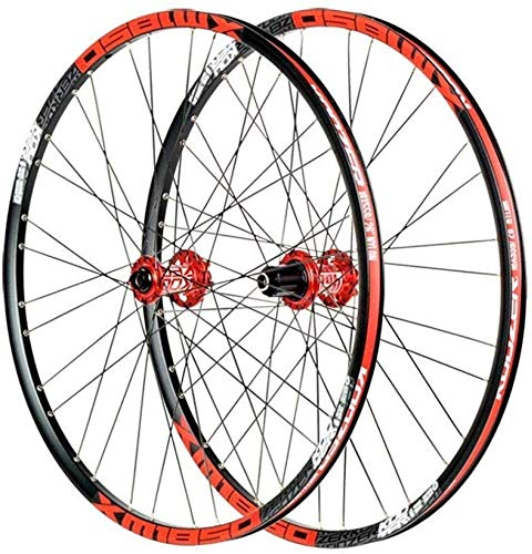 Bike Wheel Bicycle Wheel Set Bicycle Wheelset,Mountain Bike Wheels 26/27.5 Inch Disc Brake Rim MTB Alloy Ultralight Quick Release 32 Holes for 8 9 10 11 Speeds (Size : 26IN)