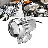 HANEU 12 V-80 V U2 30 W LED proyector motocicleta DRL conducción niebla lámpara luz cabeza lámpara (1 pieza plata luz)