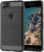 Google Pixel 2 Case,Slim Thin Flexible TPU Lightweight Carbon Fiber Shock Absorption Anti-Scratches [Anti-Fingerprint] Protective Cases Cover for Google Pixel 2,Black