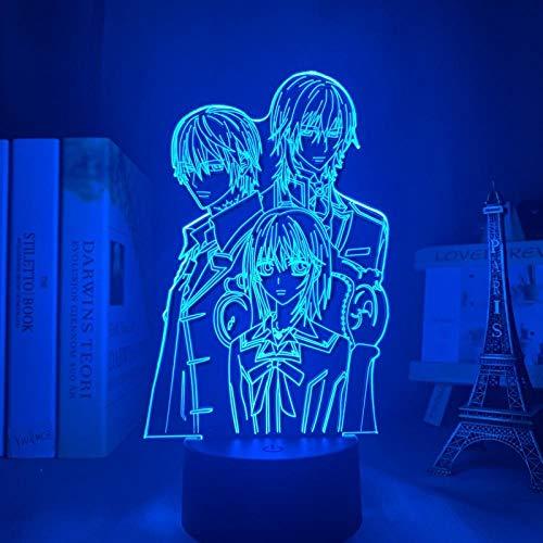 Lámpara de escritorio de mesa de ilusión óptica 3D Knight vampire knight7 colores que cambian el hogar Bar decoración de fiesta regalos de vacaciones para niños-16 color remote control