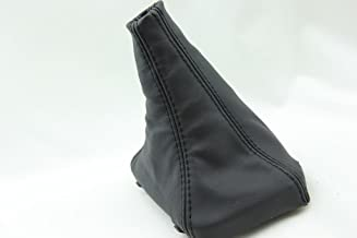 kar designers Fits 1991-1999 Mitsubishi GT3000/Stealth Real Black Leather Manual Shift Boot (Leather Part Only)