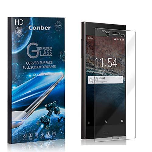 Conber [4 Pièces] Verre Trempé pour Sony Xperia XZs, [9H Dureté][sans Bulles][Haut Définition] Ultra-résistant Film de Protection écran pour Sony Xperia XZs