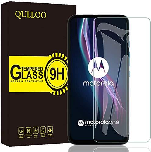 QULLOO Panzerglas für Motorola One Fusion Plus, [2 Stück] 9H Hartglas Schutzfolie HD Bildschirmschutzfolie Anti-Kratzen Panzerglasfolie Handy Glas Folie für Motorola One Fusion Plus/One Fusion+