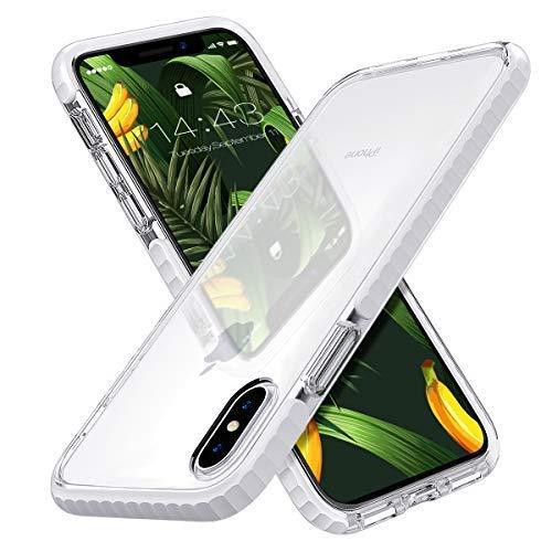 MATEPROX Custodia iPhone XS Case iPhone X Case Cristallo Chiaro Case Antiurto Anti Graffio Anti Giallo Morbida Protettivo Cover per iPhone XS 5.8''(Bianco)