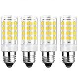 E14 Base LED Light Bulb | E14 European Base Bulb 400LM 40W Equivalent AC 110V/120V/130V (4-Pack) (Daylight White 6000K)