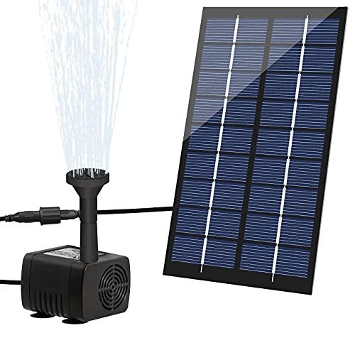 LEDGLE Bomba de Agua Solar para Fuente, 1.8W 200L/H Bomba Agua Solar Estanque, Fuente de Agua Solar, Bomba de Fuente Solar para Piscina, Pecera, Baño de Aves, Patio y Decoración del Jardín