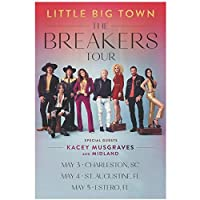 Kacey Lee Musgraves Little Big Town The Breakers Wall Art Canvas Painting Picture Posters and Prints Unique Artwork Corridor Bedroom Decor-20x30 IN No Frame