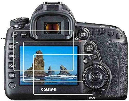 Pellicola protettiva per schermo per fotocamera Canon EOS 5D Mark IV III, in vetro temperato 9H, ULBTER 5D3 5D4 Anti-scrach Anti-impronta anti-bolle [3 pezzi)