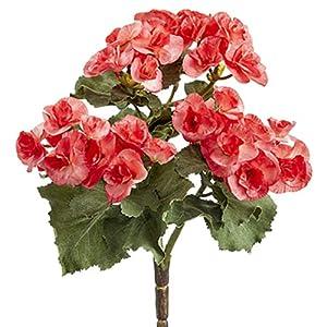 10″ Silk Begonia Flower Bush -Watermelon (Pack of 12)