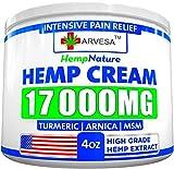 Hemp Pain Relief Cream - 17 000 MG - Made in USA