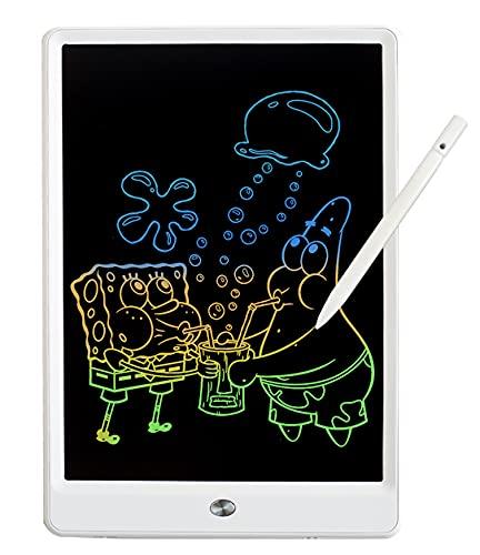 MiluMilu お絵かきボード 10インチお絵かきおもちゃ お絵描きボード 電子パッド 電子メモ, おえかきボード 女の子 おもちゃ 男の子 誕生日 子供知育玩具 クリスマス プレゼント 人気 (白)