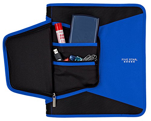 Five Star 1-1/2 Inch Zipper Binder, 3 Ring Binder, 3-Pocket Expanding File, Durable, Color Selected For You (28012) Photo #9