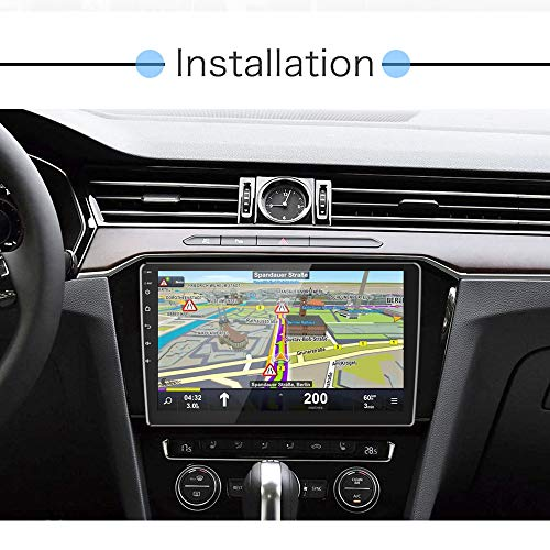 Hikity 10.1 Inch Android Car Stereo Double Din Touch Screen Car Radio Gps Navigation Bluetooth FM Radio Receiver Support WiFi Connect Mirror Link For Android/iOS Phone + Dual USB Input & Backup Camera