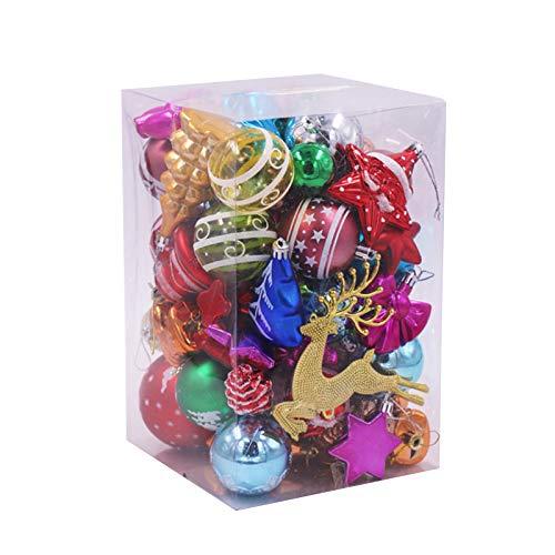 WT-DDJJK Decorazioni Natalizie, 1 Set di Palline di Natale, Fiocchi di Neve, Ornamenti infrangibili appesi all'albero di Natale, Saldi del Black Friday 2020