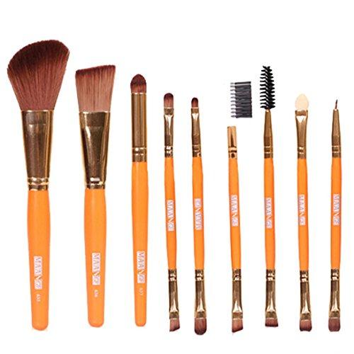Fulltime® 9 pcs Pro Makeup Cosmetic Brushes Eyeshadow Fondation Blending Brush (Orange)