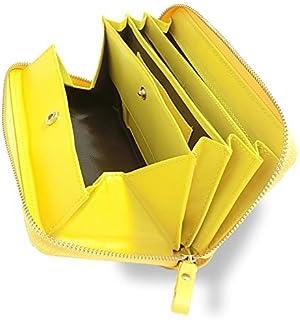 Morina 牛革 長財布 ラウンドファスナー ギャルソンウォレット 大きく開く 小銭入れ レディース メンズ