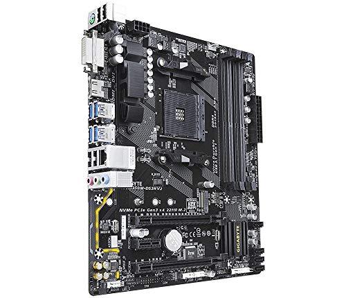 Gigabyte Ga-AB350M-DS3H V2 (Rev. 1.1) - Placa Base (AMD, Zócalo AM4, AMD A,AMD Athlon,AMD Ryzen, Zócalo AM4, DDR4-SDRAM, DiMM)