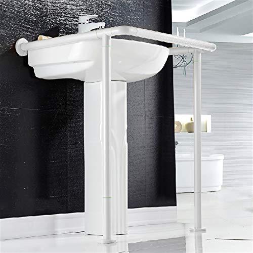 Badezimmer Grabbar Edelstahl Toilette Handläufe Wandmontage Waschbecken Sicherheitsgreifer Rails Griff für ältere Menschen (Color : White)