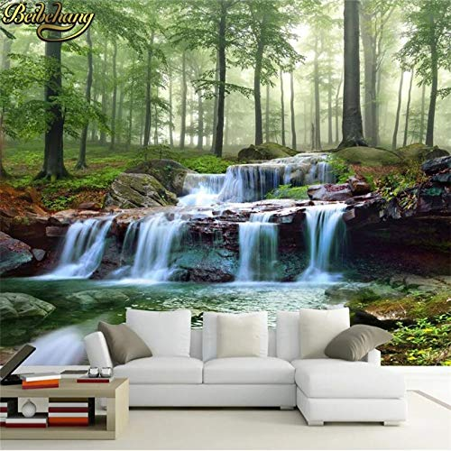 BeibehangBenutzerdefinierte Foto Tapeten Wandbilder Aufkleber Wald See frisches Gras Hintergrund Papel de Parede 3D-Tapete für Wände 3 d