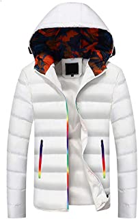 Big Daoroka Mens Autumn Winter Hoodie Coat Jacket Zipper Pocket Thcik Warm Fashion Solid Overcoat Outwear Parka
