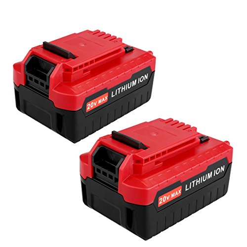 Biswaye 2Pack PCC685L 20V Max Lithium ion 5.0Ah Battery Replacement for 20V Porter Cable Battery PCC680L PCC682L Porter Cable 20V Impact Driver Drill Tools Lithium Battery PCC685LP
