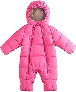 Toddler Baby Kids Girls Infant Winter Coats Jacket Kid Zip Thick Snowsuit Hooded Romper Jumpsuit Clothes Set