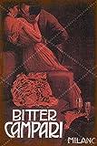 XREE Bitter Campari Milanc Blechschild Poster