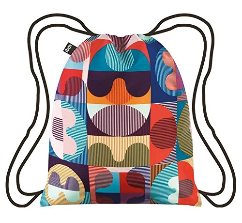 LOQI Artist Hvass & Hannibal Grid Backpack Rucksack, 44 cm, 10 liters, Mehrfarbig (Multicolour)