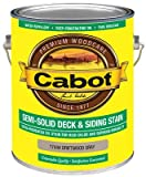Cabot 17444-07 Semi-Solid Deck & Siding Stain, Driftwood Gray, Gallon - Quantity 4