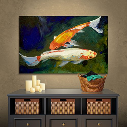 Art Wall Feng Shui Koi Fish Gallery Wrapped Canvas Art...
