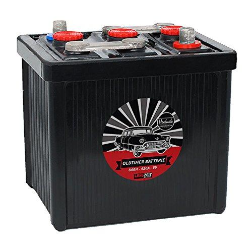 LANGZEIT Original Handarbeit 6V Oldtimer Batterie 66Ah 77Ah 84Ah Handmade (6V 84Ah)