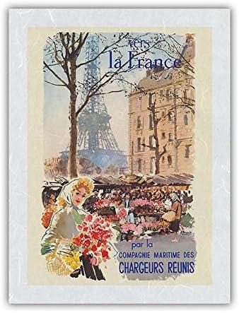 Vers la France to - Ré Eiffel Tower Chargeurs 激安通販ショッピング Paris 別倉庫からの配送