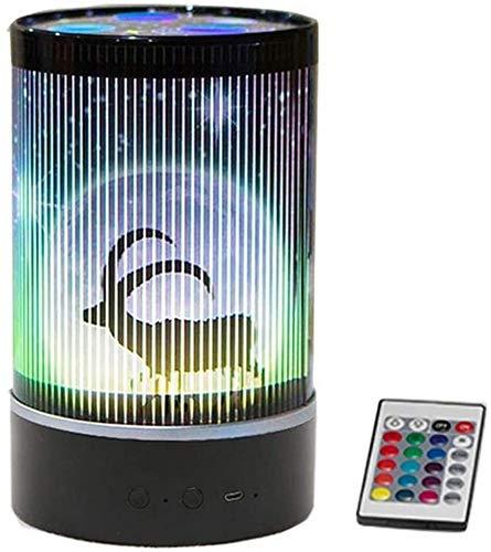 Lámpara de luz nocturna Proyector de luz nocturna, lámpara de proyección romántica de universo giratorio de 360 grados con control remoto y 5 modos de color, para decoración (color negro)